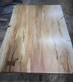 Live Edge Silver Maple - Custom Coffee Table