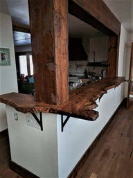 Live Edge Slab Burled Elm Kitchen Bar Top