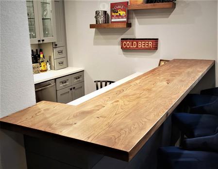 Reclaimed Barn Lumber Custom Bar Top