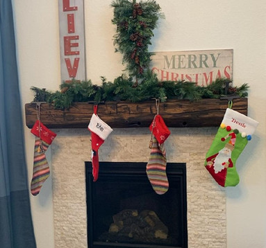 Antique Reclaimed Rustic Fireplace Mantel