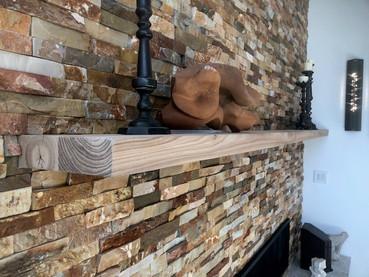 Reclaimed Barn Wood Lumber Rustic Fireplace Mantel