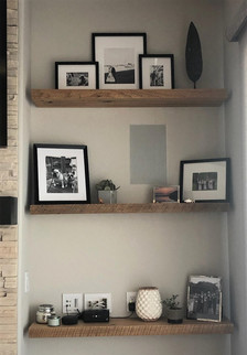 Reclaimed Antique Barnwood Plank Floating Shelves