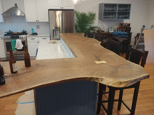 Live Edge Black Walnut - Custom Kitchen Bar