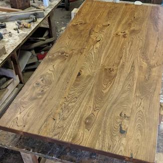 Reclaimed Barn Wood Elm Lumber Dining Table