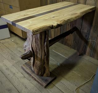 Custom Table - Cottonwood and Walnut