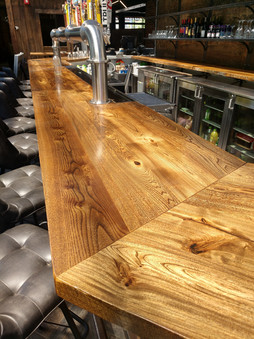 Custom Bar for The Buffalo Rose - Reclaimed Elm