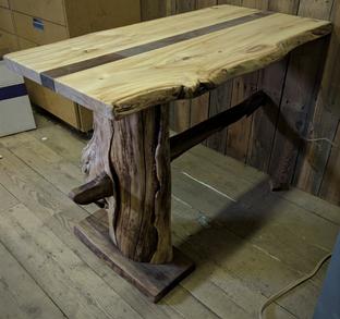Live Edge Cottonwood Slab Table Desk