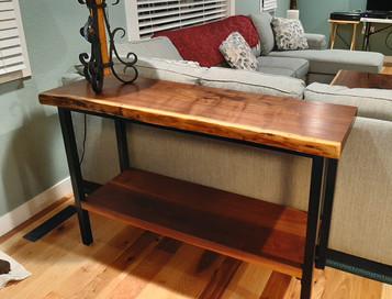 Custom Sofa Table - Live Edge Walnut