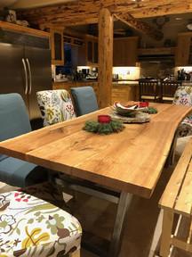 Live Edge Cherry Slab Custom Dining Table
