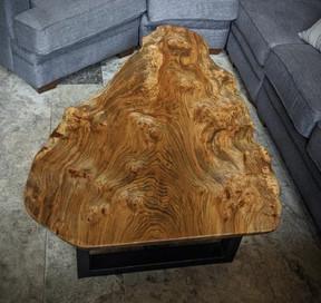 Custom Coffee Table - Burled Elm