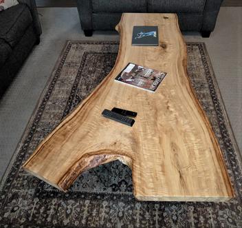 Custom Table - Live Edge Curly Cottonwood