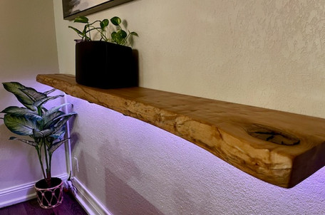 Live Edge Ash Slab Floating Self