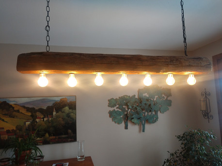 Reclaimed Antique Barn Beam Light Fixture