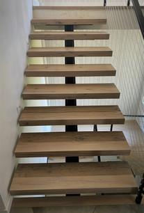 Custom Hardwood Stair Treads - Reclaimed Oak