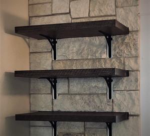 Custom Shelving - Reclaimed Antique Barn Planks
