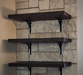 Reclaimed Antique Barnwood Kitchen Shelves