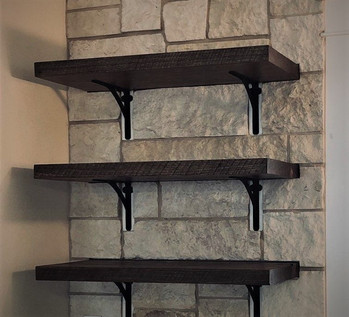 Reclaimed Antique Barnwood Kitchen Shelves