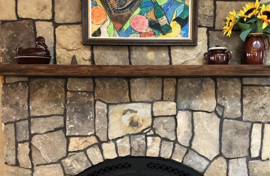 Reclaimed Barnwood Beam Rustic Fireplace Mantel