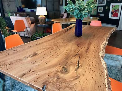 Cutom Table - Live Edge Beetle Kill Elm