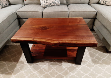 Custom Coffee Table - Live Edge Walnut