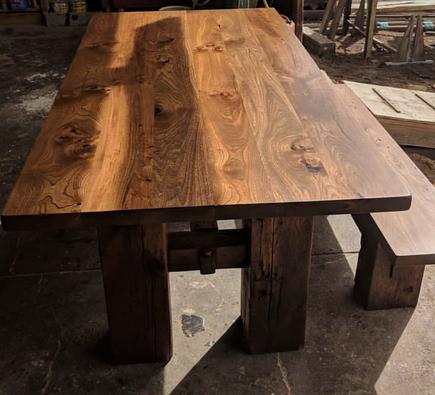 Reclaimed Barnwood Elm Custom Dining Table