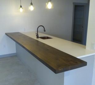 Reclaimed Antique Barn Lumber Basement Bar Top