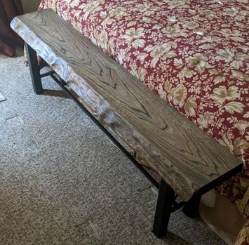 Custom Bench - Reclaimed Elm Barnwood