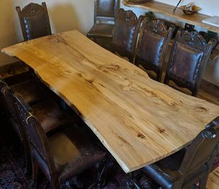 Custom Table - Live Edge Siberian Elm