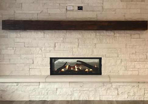 Reclaimed Barn Beam Fireplace Mantel