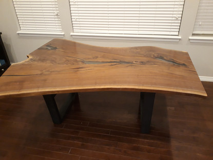 Live Edge Walnut Slab Custom Dining Table
