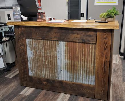 Custom Kiosk Bar - Live Edge Honey Locust