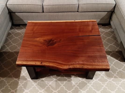 Live Edge Walnut Slab Custom Coffee Table