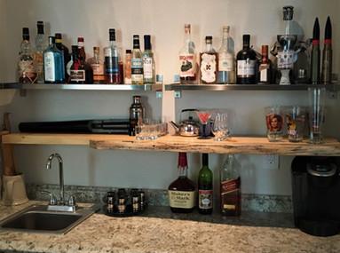 Live Edge Slab Bar Floating Shelf