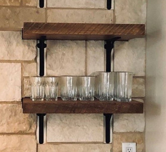 Reclaimed Barnwood Decorative Kitchen Shelves