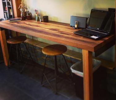 Reclaimed Barnwood White Oak Table Desk