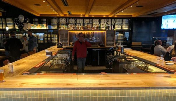 Live Edge Slab Ash Restaurant Bar Top