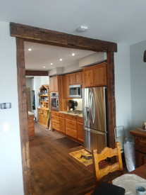Post and Beam Entry - Reclaimed Timbers