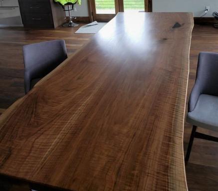 Custom Dining Room Table - Black Walnut