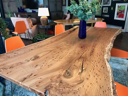Live Edge Beetle Kill Siberian Elm - Custom Table
