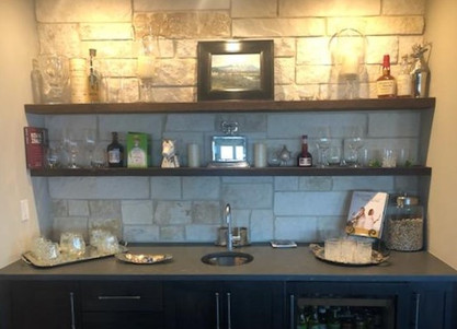 Reclaimed Barnwood Bar Floating Shelves