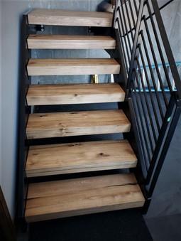 Custom Hardwood Stair Treads - Reclaimed Elm