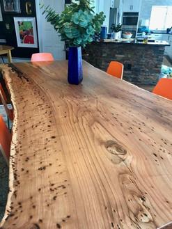 Live Edge Siberian Elm Custom Dining Table