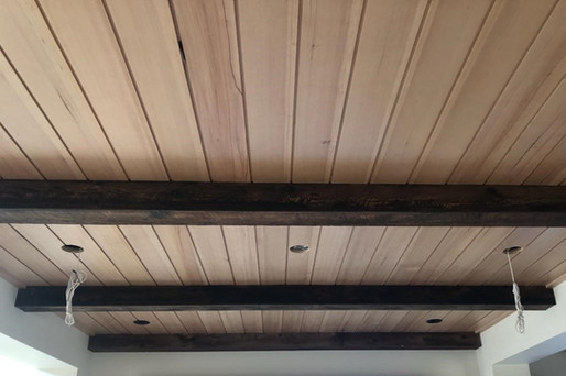Reclaimed Barnwood Siding Beam Wrap