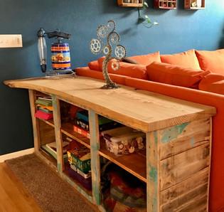 Custom Couch Table - Live Edge Honey Locust