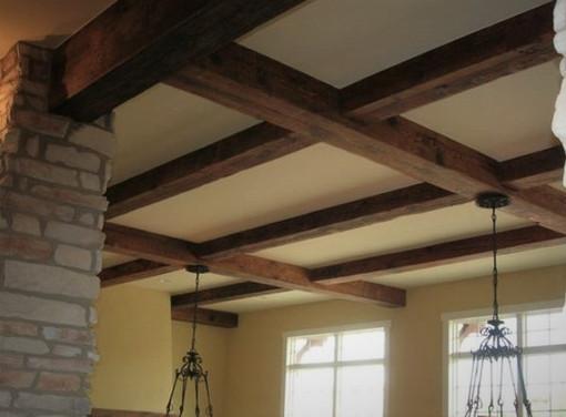 Reclaimed Antique Barn Beam Ceiling Grid