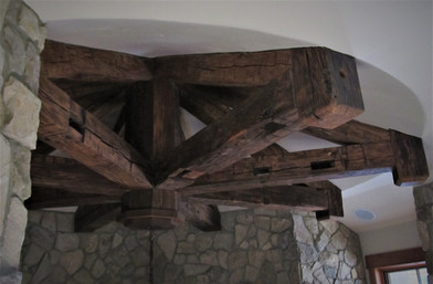 Reclaimed Antique Barnwood Accent Structure