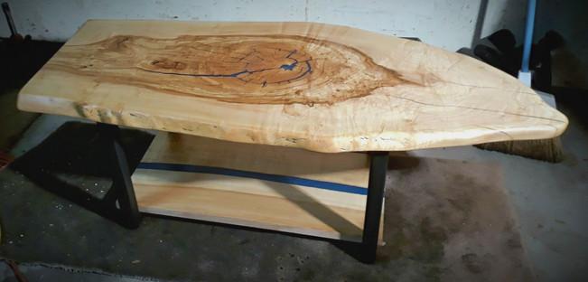 Live Edge Figured Pecan - Custom Coffee Table