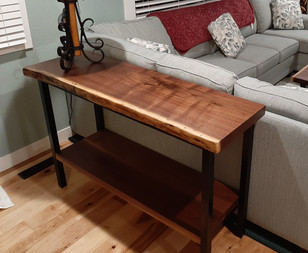 Live Edge Black Walnut - Custom Sofa Table