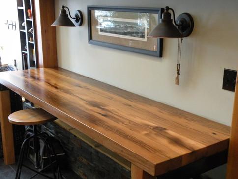 Custom Bar Top - Reclaimed Oak