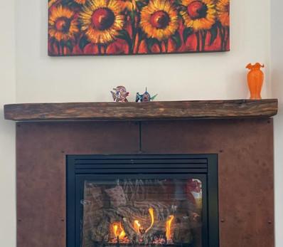 Reclaimed Antique Barn Beam Fireplace Mantel